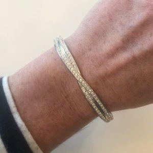 Swarovski Edith Pavé Hinged Bracelet